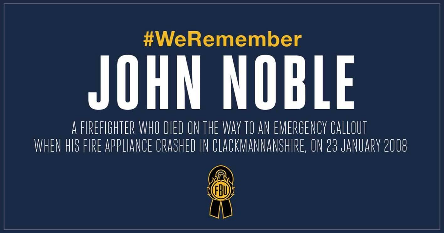 Red Plaque honouring firefighter John Noble